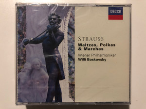 Strauss: Waltzes, Polkas & Marches / Wiener Philharmoniker, Willi Boskovsky / London Records 6x Audio CD 1997 / 455 254-2