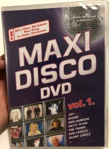 Maxi Disco DVD vol. 1 / Joy, Divine, Silent Circle, Essence / Compiled & produced by Gábor Hargittay / Eurodisco - Hargent Media / Hgint 774 (5999883601747)