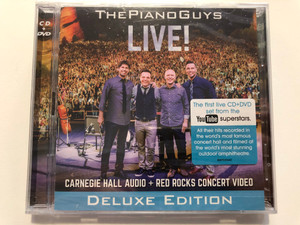 The Piano Guys – Live! / Carnegie Hall Audio + Red Rocks Concert Video / Deluxe Edition / The First Live CD+DVD set from the YouTube Superstar / Portrait Audio CD + DVD 2015 / 88875123662