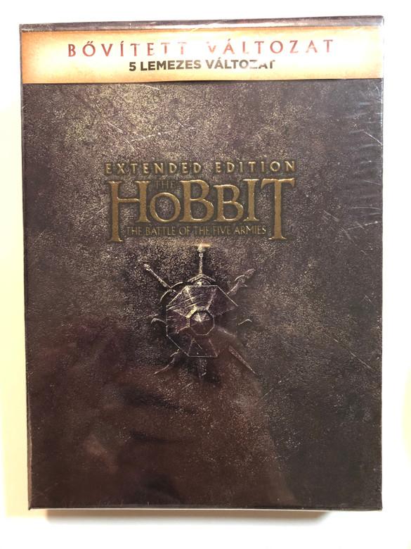The Hobbit: The Battle of the Five Armies Extended edition DVD Box 2014 A hobbit - Az öt sereg csatája - Bővített 5 lemezes változat / Directed by Peter Jackson / Starring: Ian McKellen, Martin Freeman, Richard Armitage, Evangeline Lilly, Lee Pace (5996514021844)