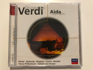 Giuseppe Verdi - Aida (Highlights) / Tabaldi, Simionato, Bergonzi, Corena, MacNeil, Vienna Philharmonic, Herbert von Karajan / Decca Audio CD / 467 436-2