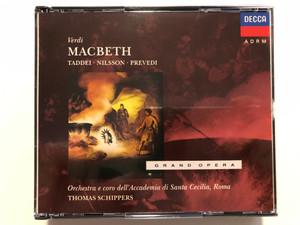 Verdi - Macbeth - Taddei, Nilsson, Prevedi / Orchestra E Coro dell'Accademia Nazionale di Santa Cecilia, Roma / Thomas Schippers / Decca 2x Audio CD 1991 Stereo / 433 039-2