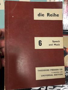 Die Reihe 6 - Speech and Music / English edition - Theodore Presser co. 1964 / Paperback / Periodical magazine (0900938145)