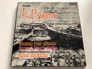 Puccini: La Bohème / Pavarotti, Freni, Ghiaurov, Harwood, Panerai, Maffeo / Berlin Philharmonic Orchestra, Herbert von Karajan / Decca 2x LP Stereo / SET 565-6