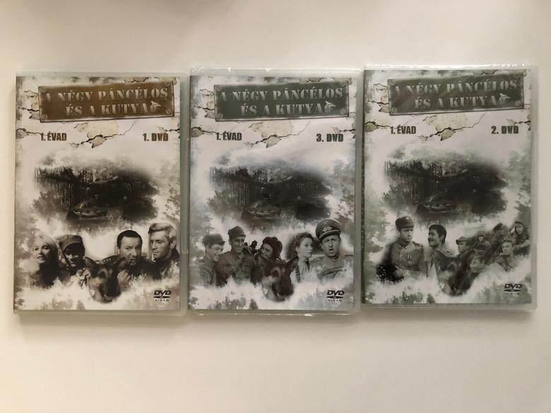 A négy páncélos és a kutya 1 évad - 1-3. DVD SET 1966 Czterej pancerni i pies / Season 1 - Polish TV Series / Four Tank-Men and a Dog / Created by Konrad Nałęcki, Andrzej Czekalski / Starring : Janusz Gajos, Franciszek Pieczka / 12 episodes - 3 discs