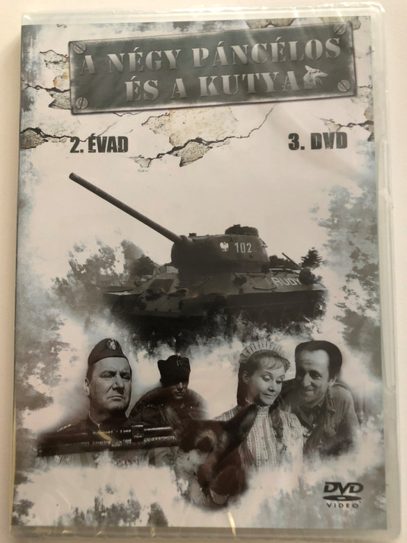 A négy páncélos és a kutya 2 évad - 3. DVD 1966 Czterej pancerni i pies / Polish TV Series / Four Tank-Men and a Dog / Created by Konrad Nałęcki, Andrzej Czekalski / Starring : Janusz Gajos, Franciszek Pieczka / 3 episodes - Season 2 - Disc 3 (5996473003356)