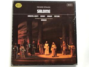 Richard Strauss - Salome / Christel Goltz, Berry, Braun, Patza / Orchestre Philharmonique De Vienne, Krauss / Decca 2x LP Stereo / 115.339/40
