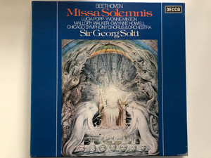 Beethoven – Missa Solemnis / Lucia Popp, Yvonne Minton, Mallory Walker, Gwynne Howell, Chicago Symphony Chorus & Orchestra, Sir Georg Solti / Decca 2x LP Stereo / D87D 2