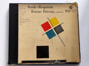 Verdi – Requiem / Ferenc Fricsay, conductor / Maria Stader (soprano), Helmut Krebs (tenor), Marianna Radev (mezzo-soprano), Kim Borg (bass) / Choir of St. Hedwig's Cathedral / Gold Label Series / Decca 2x LP / DX 118