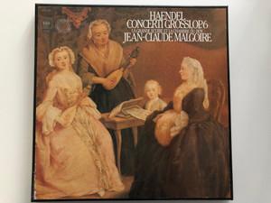 Haendel - Concerti Grossi, Op. 6 / La Grande Ecurie Et La Chambre Du Roy, Jean-Claude Malgoire / CBS Masterworks 3x LP Stereo / 79306