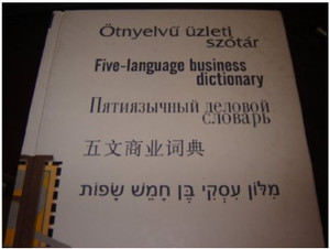 Five Language Business Dictionary / English - Chinese - Russian - Hebrew - Hu...