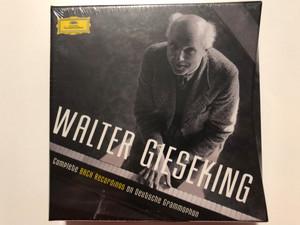 Walter Gieseking – Complete Bach Recordings On Deutsche Grammophon / Deutsche Grammophon 7x Audio CD 2017 Mono, Box Set / 00289 479 7362