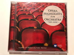 Opera Highlights For Orchestra - Verdi: Puccini / Inspiration / Academy of St Martin in the Fields, Marriner / Warner Classics Audio CD 2014 / 825646195718