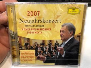 Neujahrskonzert 2007 - New Year's Concert / Wiener Philharmoniker, Zubin Mehta / Deutsche Grammophon 2x Audio CD 2007 / 477 6225