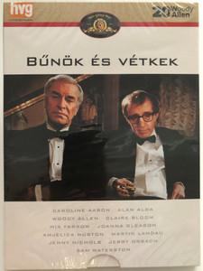 Crimes and Misdemeanors DVD 1989 Bűnök és vétkek / Directed by Woody Allen / Starring: Caroline Aaron, Alan Alda, Claire Bloom, Anjelica Huston (8594163150129)