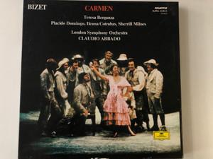 Bizet - Carmen / Teresa Berganza, Placido Domingo, Ileana Cotrubas, Sherrill Milnes, London Symphony Orchestra, Claudio Abbado / Hungaroton 3x LP 1980 Stereo / SLPXL 12230-32