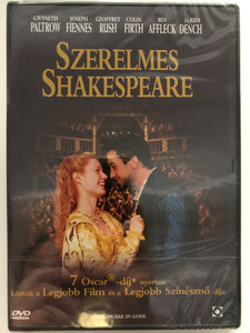 Shakespeare in love DVD 1998 Szerelmes Shakespeare / Directed by John Madden / Starring: Gwyneth Paltrow, Joseph Fiennes, Geoffrey Rush, Colin Firth, Ben Affleck, Judi Dench (5999544253827)