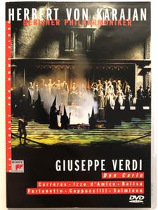 Giuseppe Verdi: Don Carlo DVD 2002 Berliner Philharmoniker / Conducted by Herbert von Karajan / Carrerras, Izzo d 'Amico - Baltsa / Sony Music DVD - 1986 recording (5099704831299)