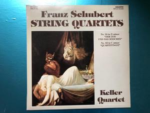 """Franz Schubert - String Quartets / No. 14 In D Minor """"Der Tod Und Das Mädchen"""", No. 12 In C Minor """"Quartettsatz"""" / Keller Quartet / Hungaroton LP Stereo 1990 / SLPD 31195"""