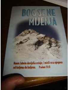 Croatian Bible Booklet for New Believers / Bog Se Ne Mijenja / Unchangeable God ...