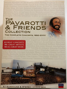 The Pavarotti & Friends Collection 4 DVD Box The Complete Concerts 1992-2000 / 8 Great Concerts - 70+ great artists / Decca (044007416099)