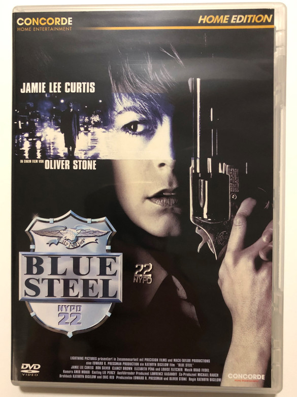 Blue Steel DVD 1990 / Directed by Kathryn Bigelow / Produced by Oliver Stone / Starring: Jamie Lee Curtis, Ron Silver, Clancy Brown, Elizabeth Peña, Louise Fletcher (4010324021496)