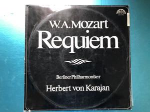 W.A.Mozart - Requiem / Berliner Philharmoniker, Herbert von Karajan / Supraphon LP Mono / SUA 10915