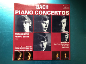 Bach - Piano Concertos / Zoltán Kocsis, András Schiff - pianos, Orchestra Of The Liszt Ferenc Music Academy, Conducted by Albert Simon / Concerto In C Major, BWV 1061, Concerto In C Minor BWV 1060 / Hungaroton LP 1977 Stereo, Mono / SLPX 11751