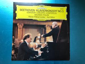 """Beethoven - Klavierkonzert No.5 - """"Emperor"""" Concerto ''L'Empereur'' / Maurizio Pollini, Wiener Philharmoniker, Karl Böhm / Hungaroton LP 1979 Stereo / SLPXL 31223"""