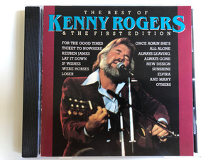 The Best Of Kenny Rogers & The First Edition / For The Good Times, Ticket To Nowhere, Reuben James, Lay It Down, If Wishes Were Horses, Loser, Once Again She's All Alone / Country Stars Audio CD 1989 Stereo / CTS 55402