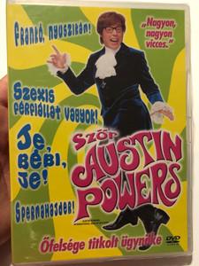 Austin Powers: International man of mystery DVD 1997 Szőr Austin Powers Őfelsége titkolt ügynöke / Directed by Jay Roach / Starring: Mike Myers, Elizabeth Hurley, Michael York, Mimi Rogers (5999010449549)