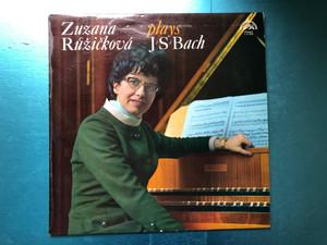 Zuzana Růžičková Plays J. S. Bach / Supraphon LP Stereo / 1 11 0750