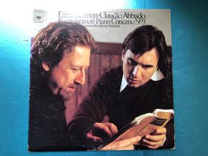 Lazar Berman, Claudio Abbado, Rachmaninoff - Piano Concerto Nº. 3 / London Symphony Orchestra / Columbia Masterworks LP 1977 / XM 34540