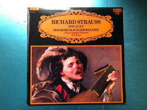Richard Strauss: Don Juan, Der Rosenkavalier Waltzes / Chicago Symphony Orchestra, Fritz Reiner / Camden Classics Victrola / RCA LP Stereo / CCV 5051