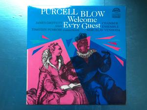 Purcell, Blow - Welcome Ev'ry Guest / James Griffett - tenor, Timothy Penrose - countertenor, Chamber Ensemble, Miroslav Venhoda / Supraphon LP 1987 Stereo / 1112 4097