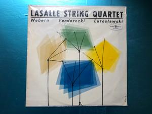 Lasalle String Quartet - Webern, Penderecki, Lutosławski / Polskie Nagrania Muza LP 1965 / SX 0282