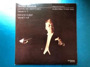 Hermann Abendroth - Ludwig van Beethoven: Sinfonie Nr. 9, Franz Schubert: Sinfonie H-moll / Historische Aufnahme, Rundfunk-Sinfonie-Orchester Leipzig / ETERNA 2x LP 1978 / 8 22 175-176