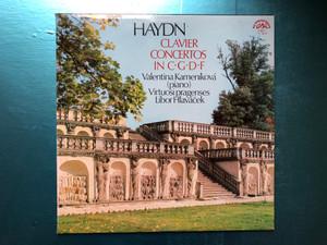 Haydn - Clavier Concertos In C, G, D, F / Valentina Kameníková (piano), Virtuoso pragenses, Libor Hlaváček / Supraphon 2x LP 1975 Stereo / 1 10 1861/2