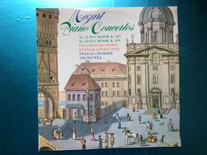 Mozart - Piano Concertos No. 21 In C Major K. 467, No. 24 In C Minor, K. 491  Paul Badura-Skoda (piano & conductor), Prague Chamber Orchestra  Supraphon LP Stereo  1 10 1176