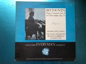 "Beethoven - Piano Concerto No. 5 In E Flat Major, Op. 73 ""Emperor"" / Mindru Katz (piano), The Hallé Orchestra, Sir John Barbirolli (conductor) / Vanguard Stereolab, Vanguard Everyman Classics / Vanguard LP Stereo / SRV-138 SD"