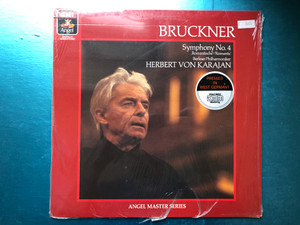"Bruckner - Symphony No. 4 ""Romantic"" / Berliner Philharmoniker, Herbert von Karajan / Angel Master Series / Angel Records LP 1985 Stereo / AM-34735"