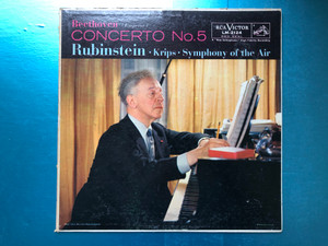 Beethoven - Concerto No. 5 (Emperor) / Rubinstein, Krips, Symphony Of The Air / RCA Victor Red Seal LP 1957 / LM-2124