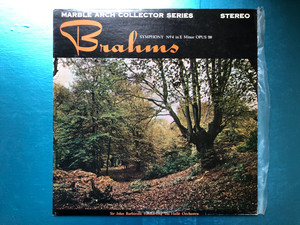 Brahms - Symphony No. 4 In E Minor OPUS 98 / Sir John Barbirolli, The Halle Orchestra / Marble Arch Collector Series / Marble Arch LP Stereo / MALS 920