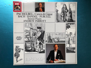 Pachelbel: Canon & Gigue / Bach, Georg Händel, Purcell, Taverner Players, Andrew Parrott / His Master's Voice LP 1988 Stereo / 7 69853 1
