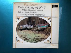 Beethoven - Klavierkonzert Nr. 5 / Nikita Magaloff (klavier), Wiener Symphoniker Leitung: Willem Van Otterloo / Grandioso Serie / Fontana LP Stereo / 894 002 ZKY