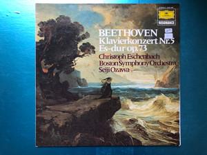 Beethoven - Klavierkonzert Nr. 5 Es-dur op. 73 / Christoph Eschenbach, Boston Symphony Orchestra, Seiji Ozawa / Deutsche Grammophon LP 1974 Stereo / 2535 296