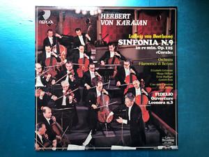 "Herbert von Karajan - Ludwig van Beethoven: Sinfonia N. 9 In Re Min. Op. 125 ""Corale""; Fidelio: Ouvertura, Leonora N. 3 / Orchestra Filarmonica di Berlino, Ouverture, Elizabeth Grümmer, Marga Höffgen / Replica 2x LP 1984 / SRPL 22400"