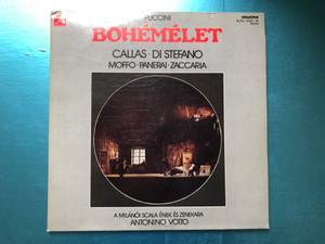 Puccini - Bohémélet / Callas, Di Stefano, Moffo, Panerai, Zaccaria / A Milanoi Scala Enek Es Zenekara, Antonino Votto / Hungaroton 2x LP Stereo / SLPXL 12835-36