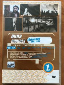 Duna workshop 1. - short films DVD 1996 Duna Műhely 1. - Rövidfilm válogatás / Directed by Iványi Marcell, Lugosi László, Fésős András, Cs. Nagy Sándor, Komár István / Hungarian short films from 1995-1996 (DunaShort1)