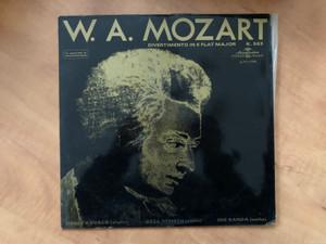 W. A. Mozart - Divertimento In E Flat Major K. 563 / Dénes Kovács (violin), Géza Németh (viola), Ede Banda (cello) / Hungaroton LP Stereo, Mono / SLPX 11590